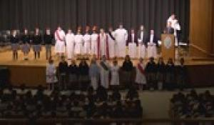 Saint Mary & Sacred Heart School's Fifth Grade: Stations of the Cross at Bishop Feehan (4/10/2019)