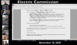 Electric Commission 11-16-20