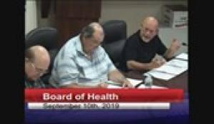 Board of Health 9-10-2019
