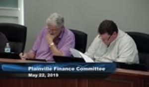 Plainville Finance Committee 5-22-19