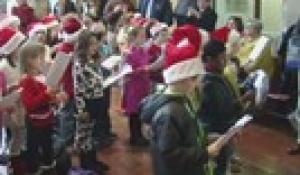 Roosevelt Avenue School Students Carol at Town Hall (2015)