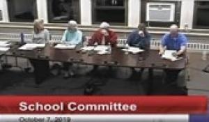 North Attleborough School Committee: October 7, 2019