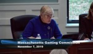 Mass Gaming Commission 11-7-19