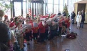 Roosevelt Avenue School Second Grade Students Caroling at Town Hall 2018