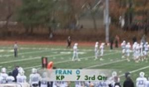 2019 Football: King Philip at Franklin Football Thanksgiving Day