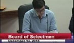 Board of Selectmen 12-13-18