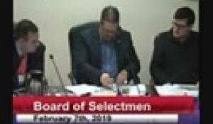 Board of Selectmen 2-7-19