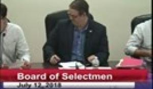 Board of Selectmen 7-12-18