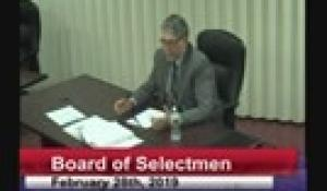 Board of Selectmen 2-28-19