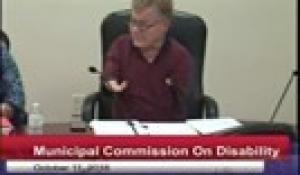 Commission on Disability 10-11-18