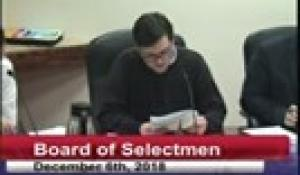 Board of Selectmen 12-6-18