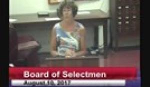 Board of Selectmen 8-10-17